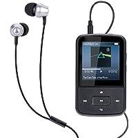 Mini Clip 8GB MP3 Player mit Silikon Hülle, Reflektierend Armband Tragbare 24 Stunden Wiedergabe Musik Player mit FM, von AGPTEK G05, Schwarz