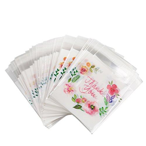 lumen Tüten Beutel Tasche für BonBon Schokolade Keks Gebäck und Geschenk, aus Kunststoff ()