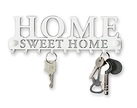 Kleiderablage Kleiderständer Home Sweet Home Garderobe Hakenleiste Schwarz Schlüsselbrett Wohnaccessoires Veranda Holz Metall Wandgarderobe Deko