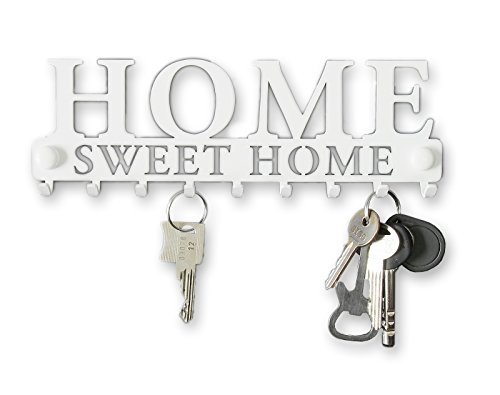 Pannello appendi chiavi da parete welcome hoome ganci acciaio appendiabiti design moderno accessori per casa moderne chiave metallo regalo veranda