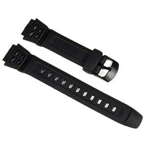 Casio Ersatzband Uhrenarmband Resin 18mm schwarz AQ-S800W