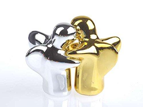 by-Bers.de Kindergeschirr, Salz- und Pfeffer Engel Mini in Gold/ Silber die wohl süßesten Salzstreuer der Welt, die sehr besonderen Salz- und Pfefferstreuer -