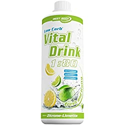 Best Body Nutrition Low Carb Vital Drink, Zitrone-Limette, 1000 ml