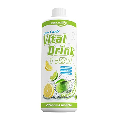 Best Body Nutrition - Low Carb Vital Drink, Lemon Lime, 1000 ml Flasche
