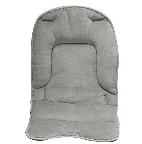 Monsieur Bébé  Coussin de confort pour chaise haute bébé enfant gamme Ptit - Gris souris - Norme NF EN14988