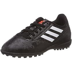 Adidas Conquisto II Tf J, Scarpe da Calcetto Indoor Bambino, Nero (Cblack/Ftwwht/Solred), 38 2/3 EU