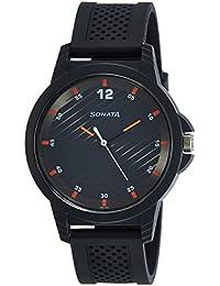 Sonata Analog Black Dial Boys Watch-7119PP06