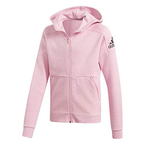 adidas Mädchen Trainingsjacke ID Stadium Hooded Tracktop True pink/Grey six/Black 110