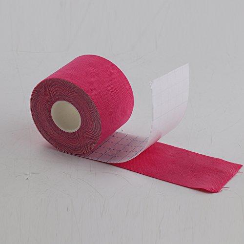 JUEYAN 6 Rollen Kinesiologie Tape 5 X 500 CM Sporttape Wasserdicht Elastisches Kinesiology Sport Tape Tapeverband aus Baumwolle - 9