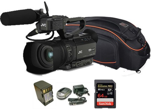 Kit Camcorder GY-HM200 JVC 4K Ready CMOS 1/2 - WIFI Ottica 12x stabilizzata HDMI output 4K Ultra HD + 1 Battery + 1 Battery charger + 1 Memory Card Sandisk 64Gb - 95Mb + Bag (Jvc Hdmi)
