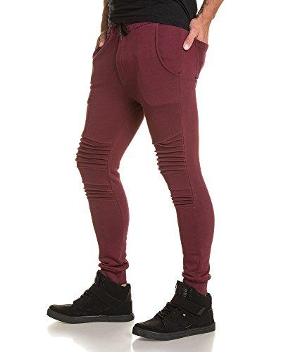 BLZ jeans - Pantalon jogging homme bordeau Rouge
