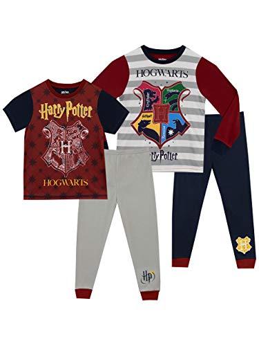 Harry Potter Pijamas para Niños 2 Paquetes Hogwarts 9-10 Años