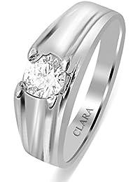 Clara Swarovski The Leandro 92.5 Sterling Silver Designer Ring For Men And Boys