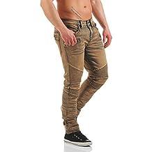 Rock Revival Pantalones Vaqueros De Hombre Moto ELLIOT S203