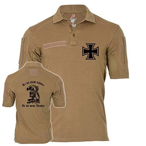 Copytec Tactical Polo Alfa Er ist Nicht schwer Er ist Mein Bruder Kameradschaft #26540, Größe:M, Farbe:Sand