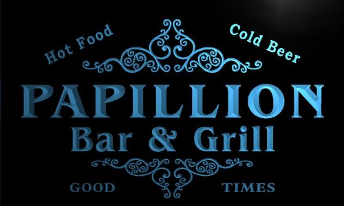 u33974-b PAPILLION Family Name Bar & Grill Home Brew Beer Neon Sign Barlicht Neonlicht Lichtwerbung