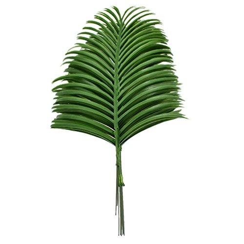 Hongma 10x Künstlicher Palmwedel Palmenblättern Kunstpflanze für Vase Party Dekor