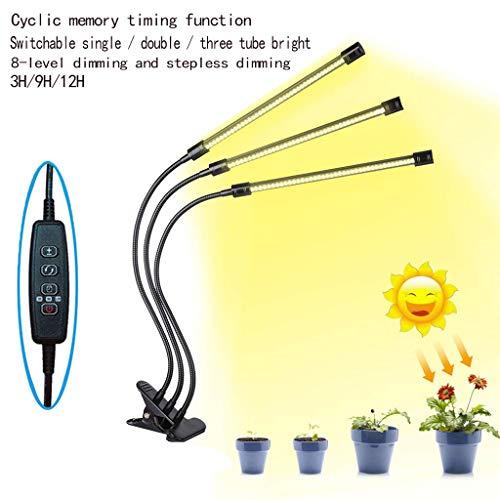 Schwanenhals-scheinwerfer (ZWW LED-Pflanzenlicht, Vollspektrum-Pflanzenlicht Mit Automatischem Wechselspeicher Timer Doppelkopf Verstellbarer Schwanenhals Zimmerpflanze)