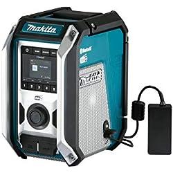 Makita DMR115 Chantier 12 à 18 V Li-ION Compatible réseaux Dab+ (Radio numérique terrestre) et FM-Bluetooth-Hybride (Produit Seul)