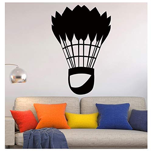 yangyueyue Klassische Badminton Sport Kunst Wandaufkleber für Wohnkultur Wohnzimmer Wanddekoration Aufkleber Aufkleber Tapeten wandbilder 58 cm X 85 cm