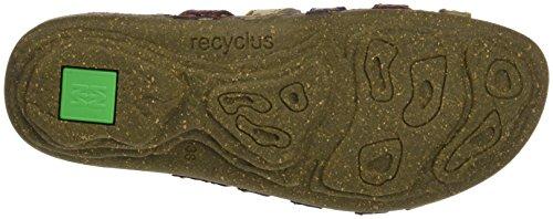 El Naturalista N327 Soft Grain Torcal, Ouvrez Toe Femme Rouge (Rioja Mixed)