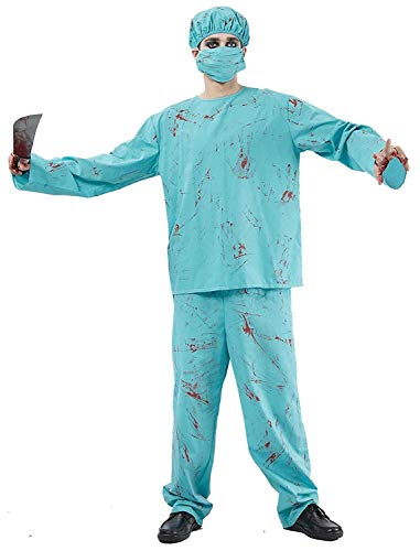 Herren Kostüm Halloween Party Horror unheimlich Blutspritzer Chirurg Outfit UK