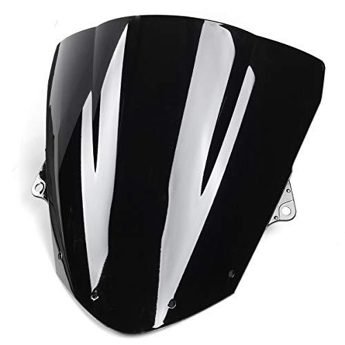 YONGYAO Pare-Brise De Pare-Brise Moto Noir pour Kawasaki Zx6R 09-14 Zx10R 08-10