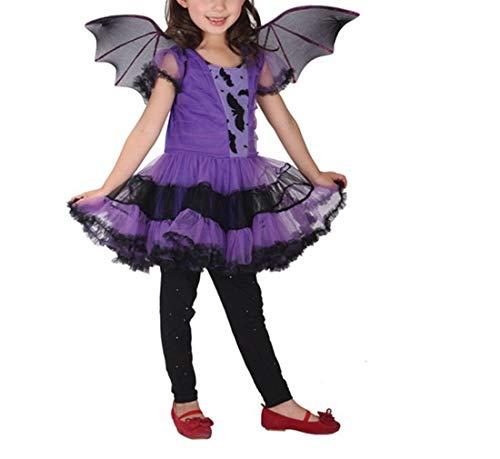zhbotaolang Kids Animal Halloween Kostüm Mädchen Kurze Ärmel Party Fancy Kleid Cute Lila Tutu Kleid L (Cute Halloween Tutu Kostüm)