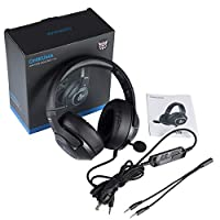 ONIKUMA Gaming Headset for Xbox One,PS4, PC, 3.5mm Stereo Wired Over Ear Gaming Headphone with Mic
