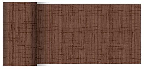 Duni Dunicel Tischläufer Linnea Chestnut 0,15 x 20 m