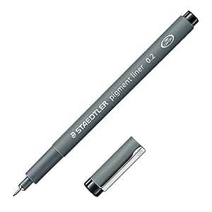 STAEDTLER Feutre à pointe fine pigment liner, noir, largeur de tracé 0,2 mm
