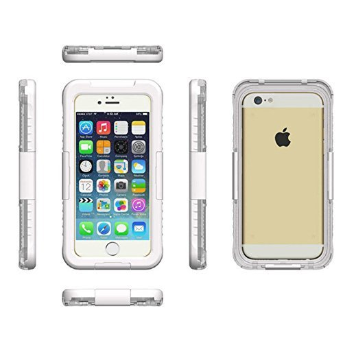 Mondpalast@ blanco Funda carcasa acuatica sumergible para Apple iphone 6 4.7
