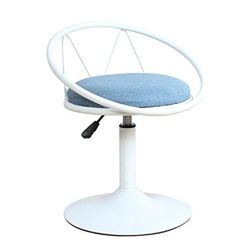 Mena Uk 360 Grad Swivel Barhocker, weich bedruckte Baumwolle und Leinen Top, ergonomisches Design, maximale Tragkraft 130kg (Farbe : Weiß, größe : 38cm)