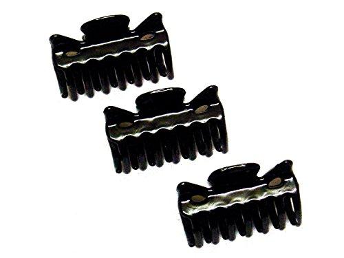 Haarklemmen für Damen von La Peach Fashions, 4 cm, 3 Stück Haarklammer Clips Haarzubehör Klemmen