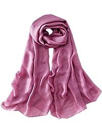 Yasminey Les Femmes En Mousseline De Soie Dames Célébrité Style De Foulards  Douce Vêtements Chics Longue e1ef500153e