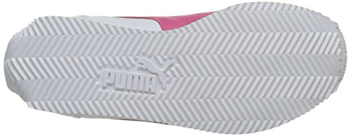 Puma Fieldsprint L Unisex-Kinder Sneakers Weiß - Blanc (White/Fandango Pink)