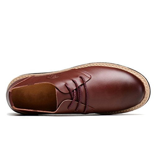 alishabroy Herren Aufzug Höhe Erhöhung Schuhe echtes Leder Müßiggänger Wohnungen Braun Braun