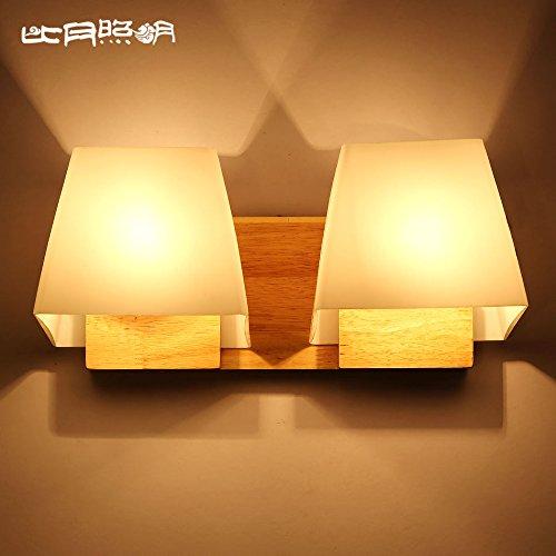 BBSLT Lampada da comodino camera da letto registro stile bianco