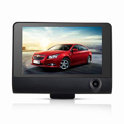 Dashcam Autokamera mit Rückfahrkamera 170 Grad Weitwinkel, G-Sensor, 1080P 4 Zoll LCD-Bildschirm, Nachtsicht, Bewegungserkennung, Parkmonitor, Loop-Aufnahme Drei Lens 4in Lcd