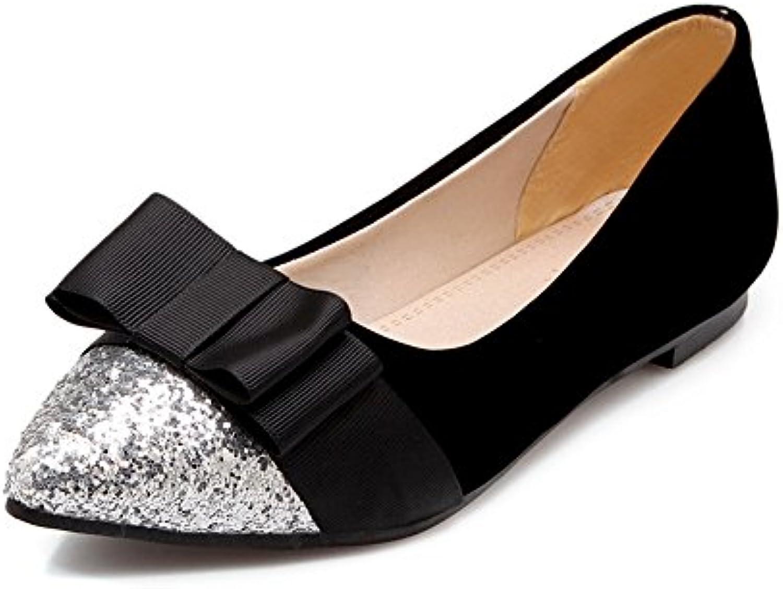 Exing Zapatos de Mujer de Gran Tamaño con Zapatos de Tacón Alto con Lentejuelas