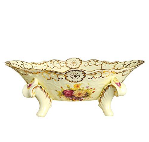 Hyvaluable piatto di frutta piatto di frutta in ceramica ciotola di frutta in porcellana di avorio decorazione domestica stile europeo