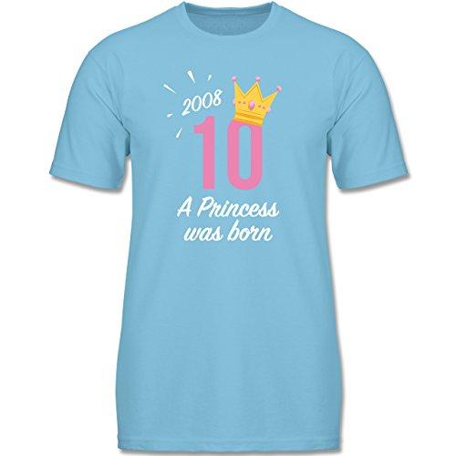 Geburtstag Mädchen Princess - 92 (1-2 Jahre) - Hellblau - F140K - Jungen T-Shirt (Princess 1. Geburtstag)