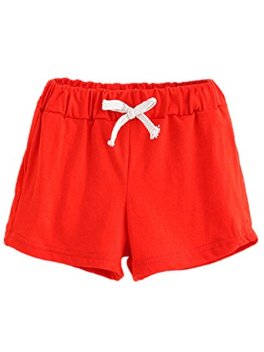Baby Kids Boy Girl Summer Beach Shorts Sports Pants Trousers (4T, Red)