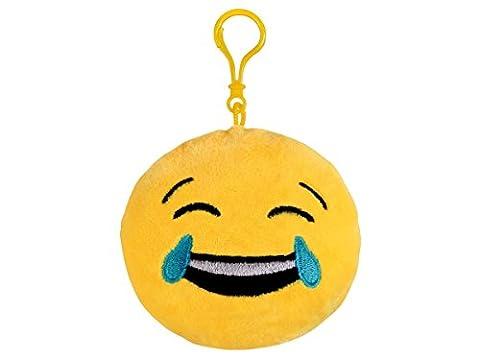 Pendentif Porte-clés porte clé en peluche Ø 12 cm Smiley doux Emoji émoticônes idée cadeau ou simplement comme un jouet en peluche pour s