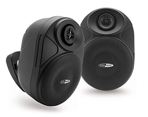 CALIBER HSB602BT/B - 16,5cm Bluetooth Wasserfester Wand/Außen Lautsprecher Schwarz