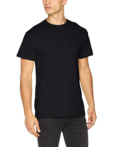 Gildan Herren Heavy Cotton Tee T-Shirt, Schwarz, XXXXX-Large -