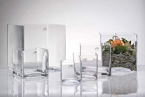 cf09b3756c Vase Würfel eckig 14 x 14 cm