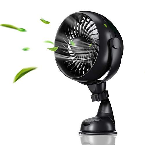 Mini Mute-Clip-Lüfter - Wiederaufladbare Silent 4 Blades Kinderwagen-Fans - Portable Air Cooling 3 Geschwindigkeiten USB-Lüfter mit
