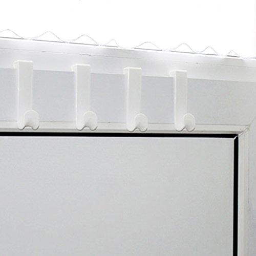 Türhaken 4 Stück 12 cm weiß Garderobe Flurgarderobe Haken Türhaken