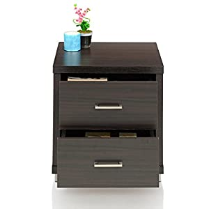 Royal Oak Berlin Bedside Table with 2 Drawers (Chocolate)